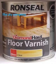 Ronseal Diamond Hard Floor Varnish  5 litre Gloss Matt Satin Clear FREE SHIPPING